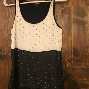 Express Size Small Black and White Tank Top EUC